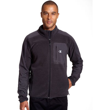 Champion Mens Textured Fleece w/Water Repellent Overlay-Tall