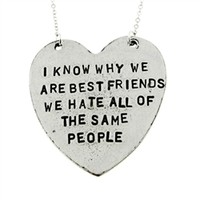 I Know Why We Are Best Friends Necklace