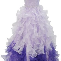 Dressystar Organza Sweetheart Beaded Ball Gowns Quinceanera Dress Lace-up Back