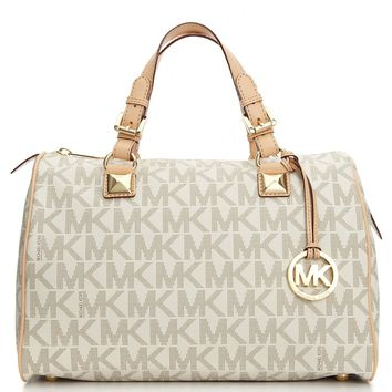 MICHAEL Michael Kors Handbag, Grayson Large Satchel - Handbags & Accessories - Macy's