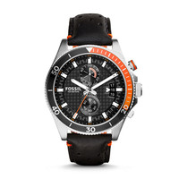 Wakefield Chronograph Leather Watch - Black