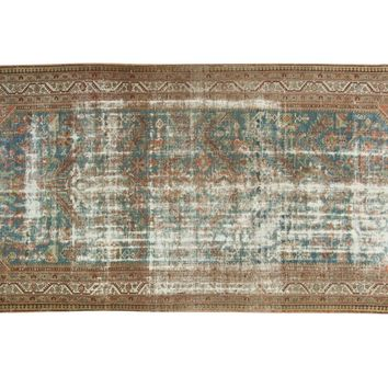 5.5x12 Vintage Distressed Malayer Rug Runner