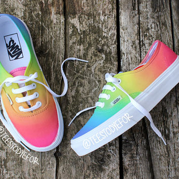 d67d74f8c74 Custom Hand Painted Pastel Tribal Vans from B Street Shoes