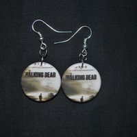 Walking Dead  Earrings by WeAreTheButtonPeople on Etsy