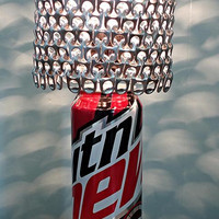 Mountain Dew Code Red Soda Can Lamp with Pull Tab Lamp Shade - The Dorm Room Essential