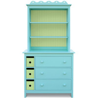 Jill Dresser With Bookcase Hutch : Dressers at PoshTots