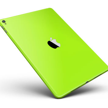 """Solid Green V3 Full Body Skin for the iPad Pro (12.9"""" or 9.7"""" available)"""