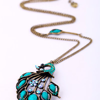 Retro female peacock necklace long sweater chain direct sales [sj39] - $5.84 : Favorwe.com Supply all kinds of cheap fasion jewelry