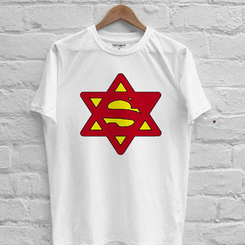 Superjew Jew Superman Comic T-shirt Men, Women, Youth and Toddler