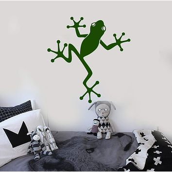 Vinyl Wall Decal Frog Kids Room Decoration Nursery Stickers Murals Unique Gift (ig4719)