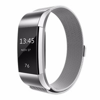 Milanese smart wristband for Fitbit Charge 2 band bracelet + Stainless steel watch strap watchabnd for fitbit replacement band