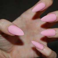 Pretty in Pink Pastel Claws -Matte or Glossy- Handmade Stiletto Full Cover False Nails Set of *20*