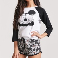 Mickey Mouse Graphic Pajama Top
