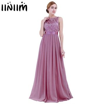 Maxi Dresses for Women Ladies Embroidered Reflective Chiffon Dress Long Vestido de festa Prom Gown Formal Dress Party Dress