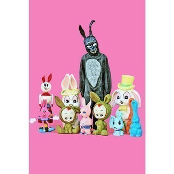 scary bunny print 8 x 12 What The Frank