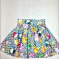 SWEET LORD O'MIGHTY! POKEMON STICKER SK8R SKIRT