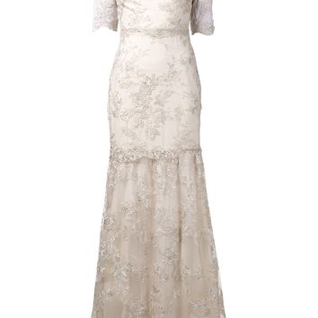 Marchesa Notte embroidered lace gown
