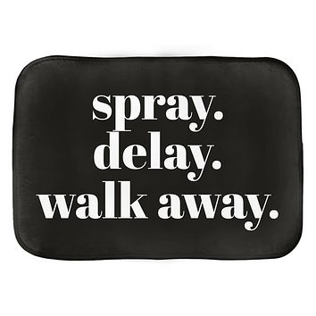 Spray Delay Walk Away Bath Mat