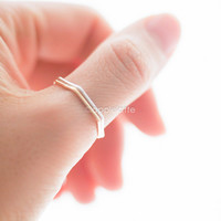 skinny hexagon ring, thumb ring