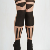 Boudoir Pop Artist Tights by Pretty Polly from ModCloth