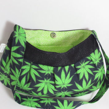 Pot leaf Purse - 420 Bag - Cannabis Handbag - Mary Jane Purse - 420