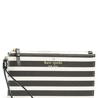 Women's kate spade new york 'fairmount square - slim bee' wristlet - Black