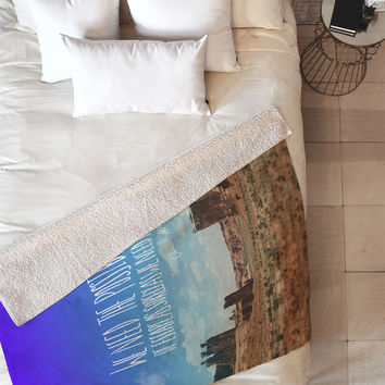 Leah Flores Edward Abbey X Escape Fleece Throw Blanket