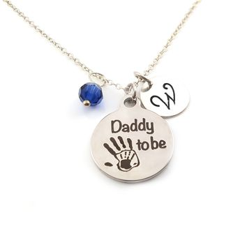Daddy to Be Personalized Sterling Silver Necklace