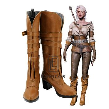 Game The Witcher 3 Wild Hunt Cirilla Fiona Elen Riannon Cosplay Halloween Party Shoes Ciri Boots Custom Made
