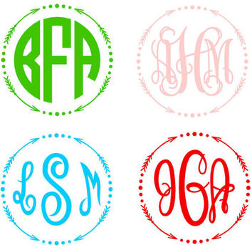 MONOGRAM ARROW Decal Sticker