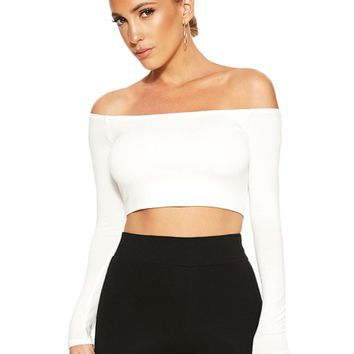 The NW Off Shoulder Crop - Back in Stock