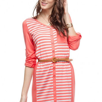 Creamsicle Striped Jersey Dress
