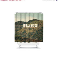 ON SALE Hollywood  - Shower Curtain - california, bathroom, college, dorm, apartment, unisex, travel, wanderlust, decor, cali, socal, trees