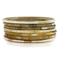 Nest Jewelry Blonde Horn Skinny Bangle Set of 7