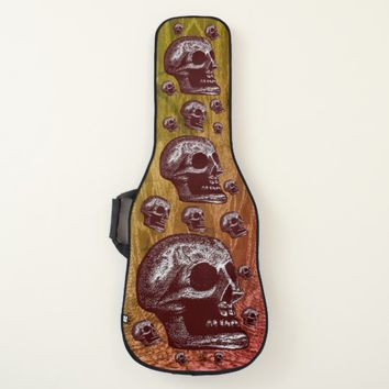 Multi-Skulls Dark Red Style 2 Guitar Case
