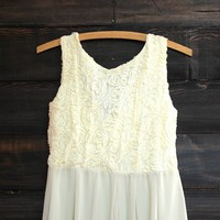 rosebuds dress in cream
