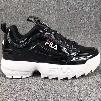FILA SHOES Running Sport Casual Shoes Sneakers F Black