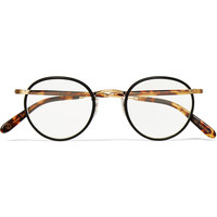 Garrett Leight California Optical - Wilson Round-Frame Acetate and Metal Optical Glasses | MR PORTER