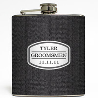 Save the Date - Groomsmen Flask
