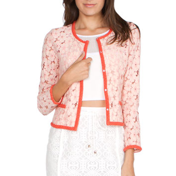 Pink All over Lace Jacket