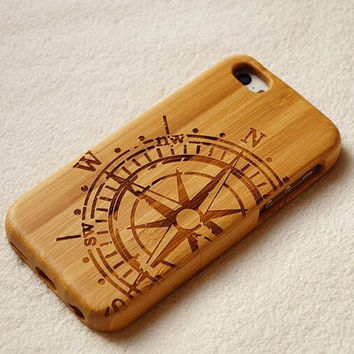 wooden wood iphone 6 case, Compass iphone 6 wood case,wood iphone 6 case,iphone 5s case,iphone 5c case,iphone 4s case