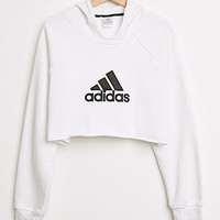 Retro Gold Cropped Adidas Pullover Hoodie at PacSun.com