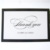Black Wedding Thank You Cards -  DEPOSIT