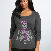 Skull Raglan Sweater