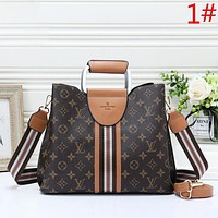 LV Louis Vuitton Fashion New Monogram Check Shopping Leisure Shoulder Bag Crossbody Bag Women