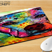 Pitbull Love Painting Mousepad Mouse Pad iPhonefy