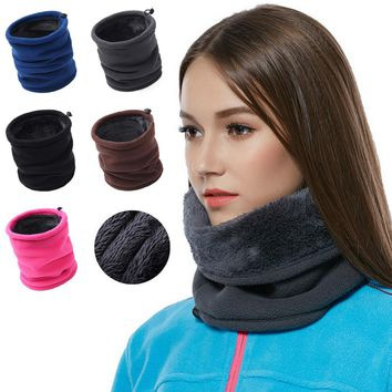3in1 Winter Thicken Warm Fleece Neck Warmer Women Snood Scarves Men Bufanda Unisex Ski Bicycle Scarf Women Cachecol Feminino F2