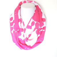 Pink Scarf, Hot Pink Scarf, Bright Scarf, Summer Infinity Scarf, Mother's Day Gift