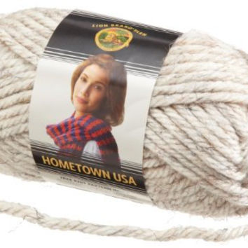 Yarn, Kansas City Wheat Tweed, Lion Brand Hometown USA Yarn, Crochet Yarn, Knitting Yarn, Acrylic Yarn, Bulky Weight