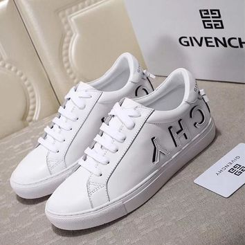 GIVENCHY Logo Lace-Up Sneakers in White